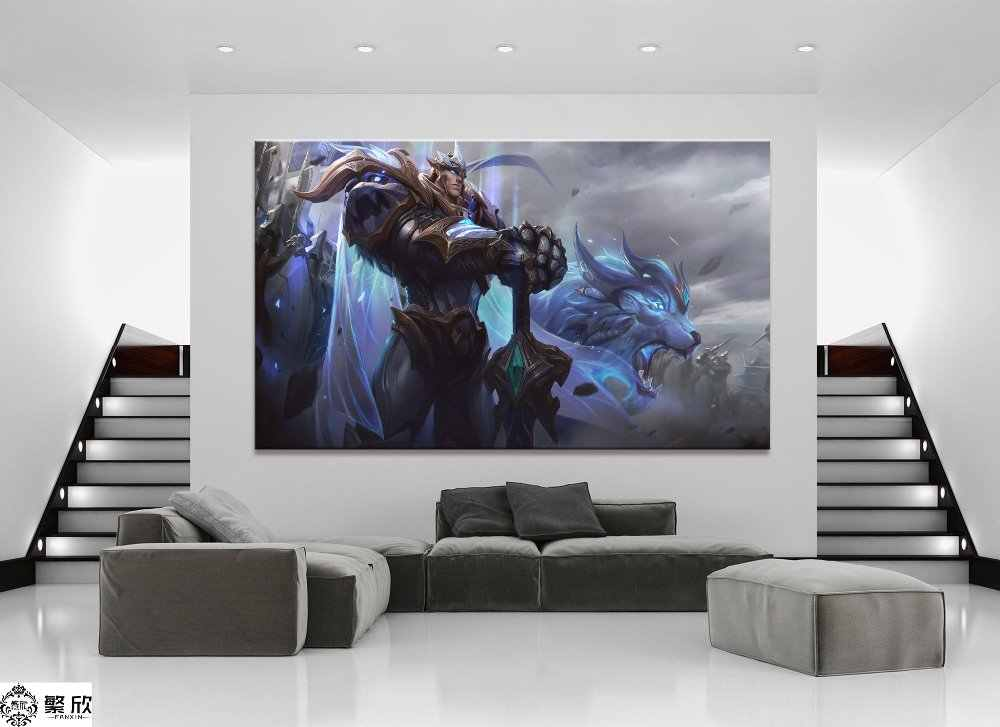 1 Panel LOL League of Legends Garen Game Canvas Printed Painting For Living Room Wall Art Decor HD Picture Artworks Poster