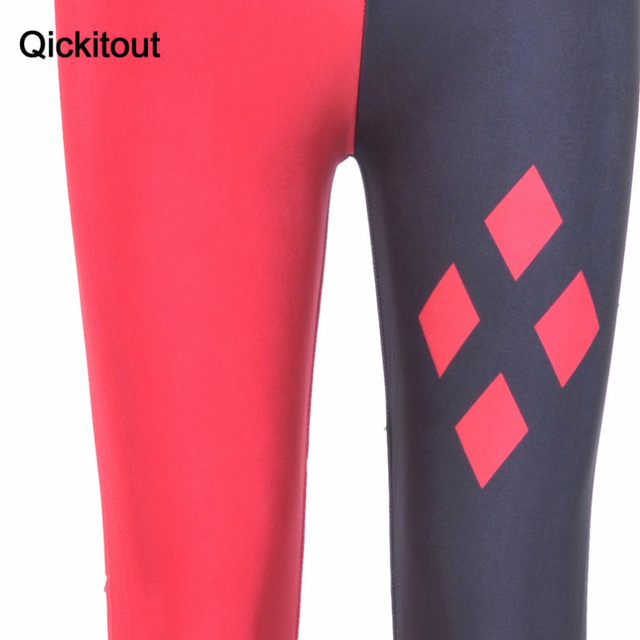 Qickitout Leggings Hot Brand Harley Quinn Leggings Fashion Women Clothes Hot Digital Print Pants New Fitness leggins