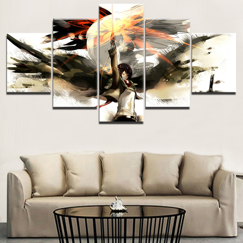 Modular Canvas Print Poster For Living Room 5 Pieces