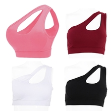 5875ad06ea Women New Alone Shoulder Strappy Bra Crop Top Fitness Push Up  Underwear(China)