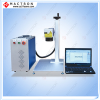 Portable Desktop 20w Fiber Laser Marking Machine For Metal Gold Silver Copper Zinc Plastic PE PP