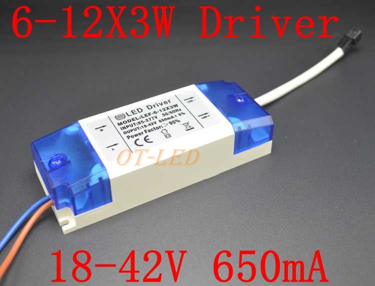 2 Pieces Isolation 36W AC85-277V LED Driver 6-12x3 900mA DC18-40V LED Power Supply Constant Current Ceiling Lamp Free Shipping
