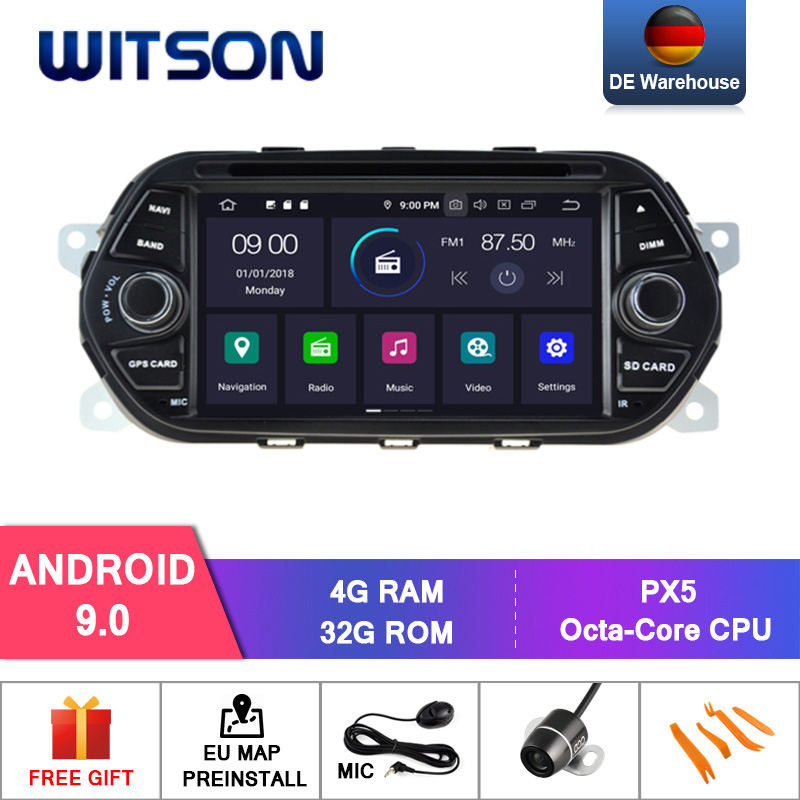 WITSON Android 9 0 Octa core Eight core 4G RAM CAR DVD PLAYER GPS For FIAT