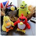 20 cm Voando pássaros pretos vermelhos porco de pelúcia brinquedos dos miúdos Dos Desenhos Animados 3D animais Kawaii pássaros figura de ação & toy & hobbies