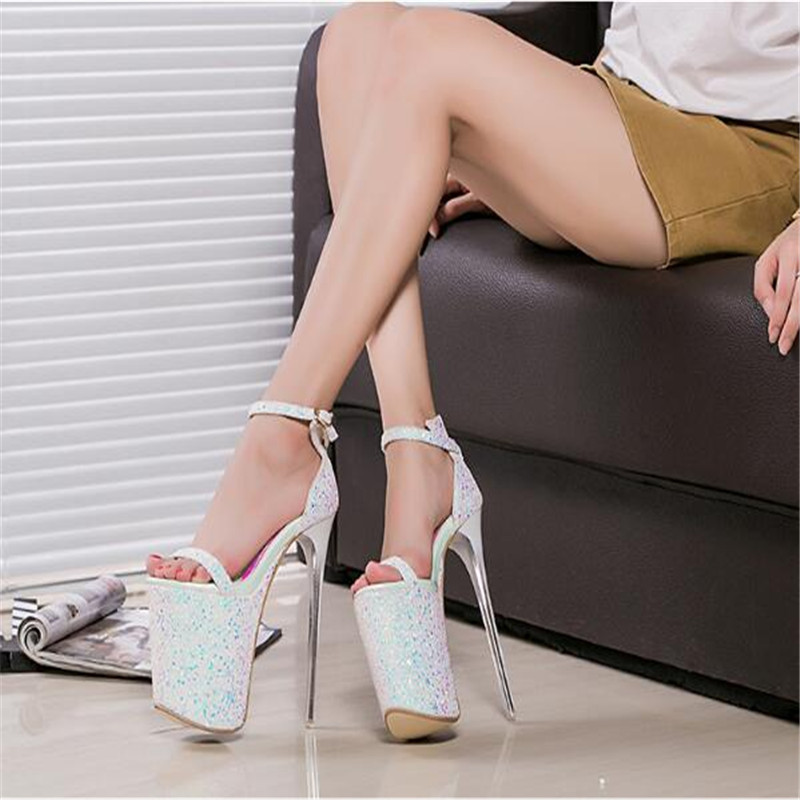 20 forme 9 Super Discothèque Étanche De Talon Cm Sexy 1 2 Taille Fine Femmes Mètres Chaussures Femme Style Plate Nouveau Sandales 43 q7xEgX66