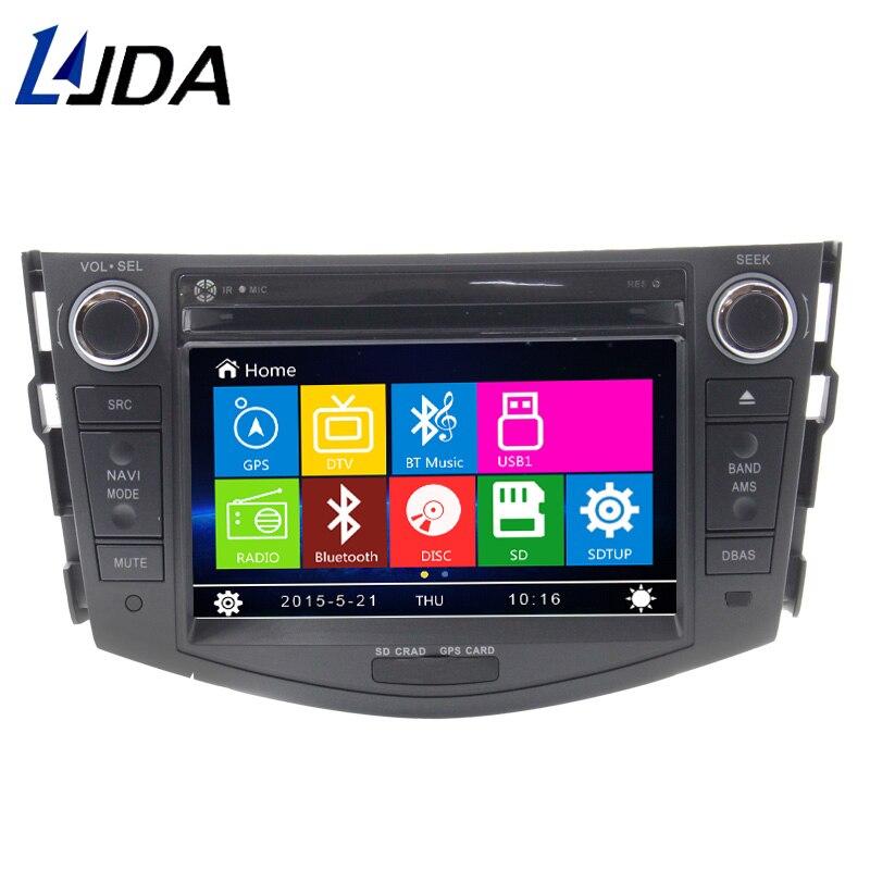 LJDA 2 DIN 7 pouces lecteur dvd de voiture pour Toyota RAV4 Rav 4 2007-2011 in dash 1080 P gps navigation Radio stéréo Canbus cartes gratuites RDS
