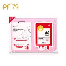 PF79 Vitamin A Elastic Intensive Control Mask Anti Aging Face Mask Anti Wrinkle Sheet Mask 4pcs/pack VA Essences Facial Mask цена в Москве и Питере