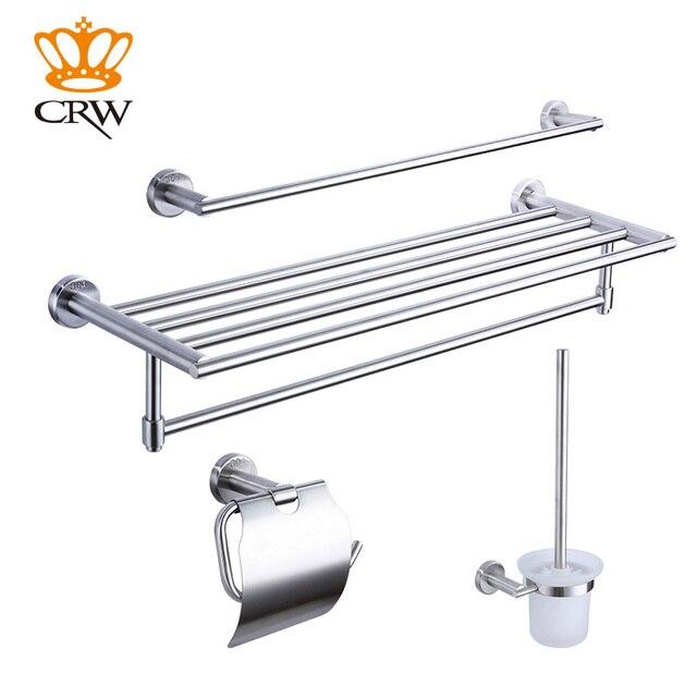 Superior CRW Bathroom Accessories Set,Towel Bar,Toilet Brush Holder,Toilet Paper  Holder,