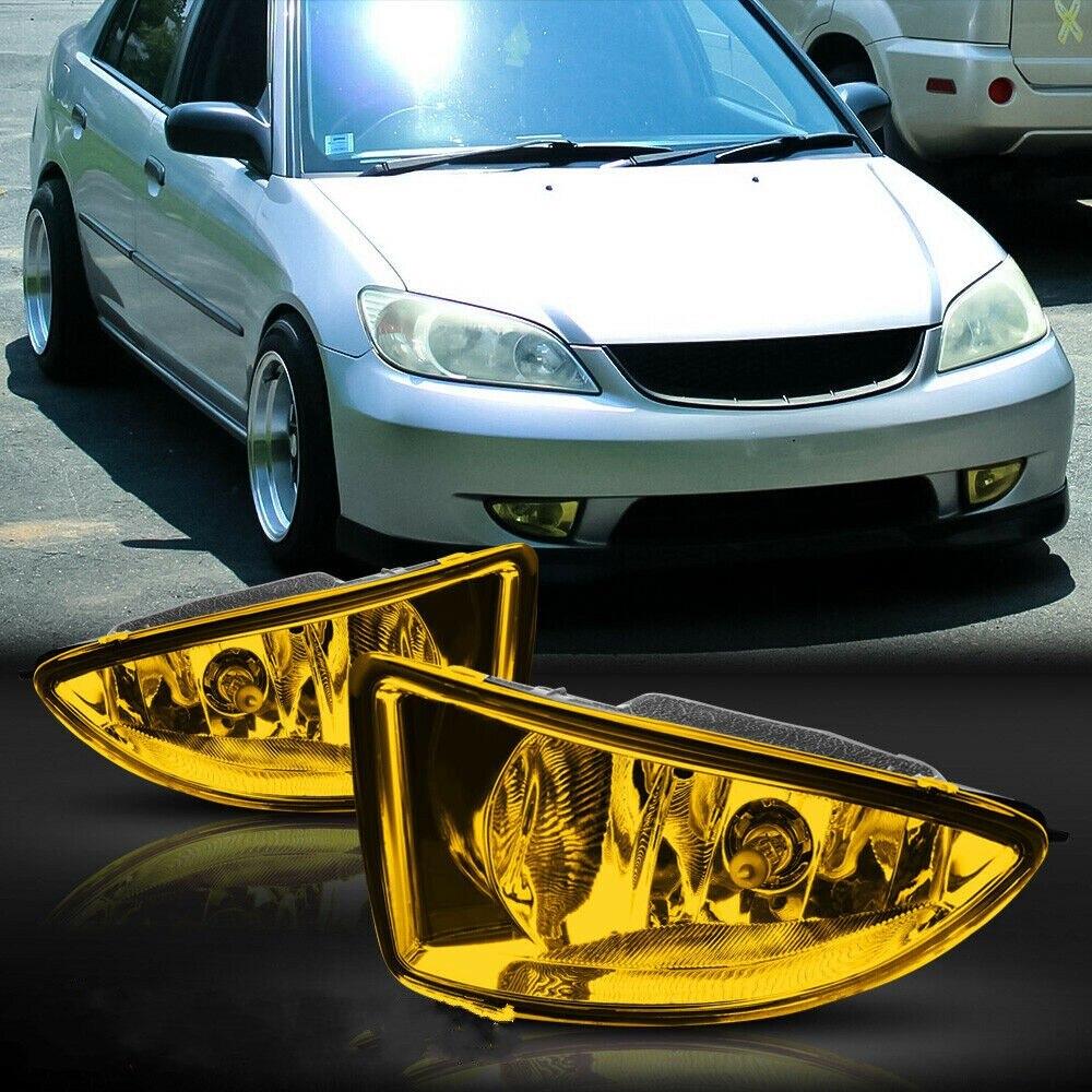JanDeNing Автомобильные противотуманные фары для Honda Civic 2/4DR 2004 ~ 2005 галогенные лампы H11 12V 55 Вт передние противотуманные фары бампер лампы комплек