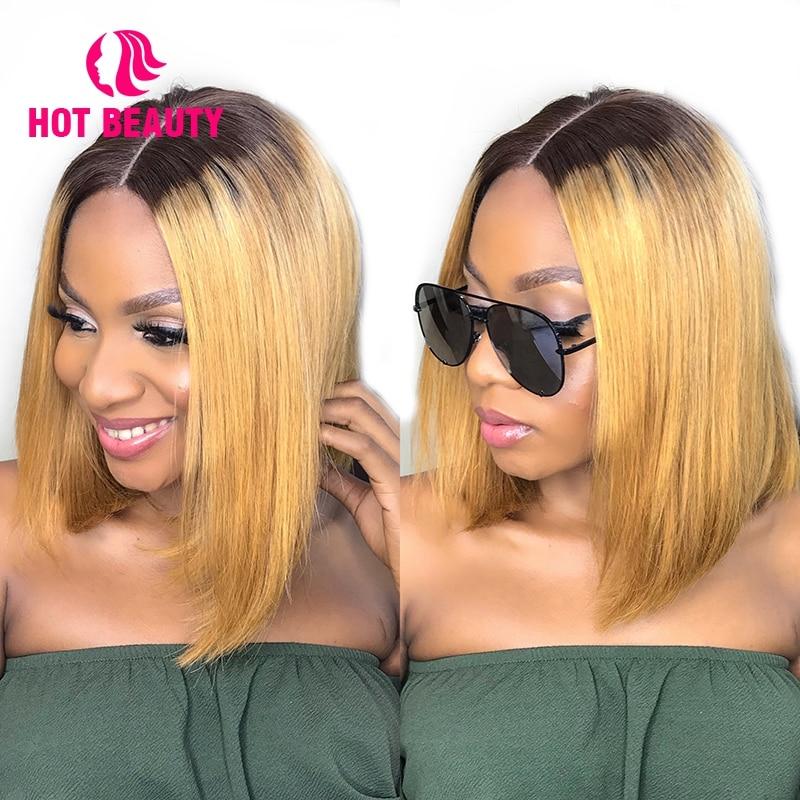 Hot Beauty Hair Glueless Snörning Front Mänskliga Hårperor Med - Mänskligt hår (svart) - Foto 3