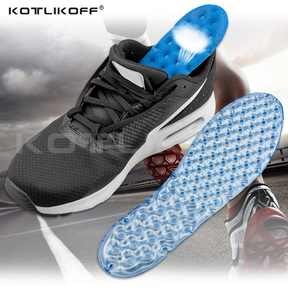 Sports Running Insole For Shoes Air Cushion Insoles Super Stretch Shock Absorption Relieve Foot Fatigue Comfortable Pad Insert