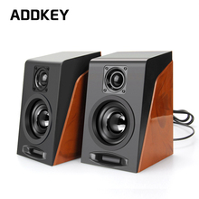 ADDKEY 2pcs New Creative MiNi Subwoofer Restoring Ancient Ways Desktop Small Computer PC Speakers With USB 2.0 & 3.5mm Interface