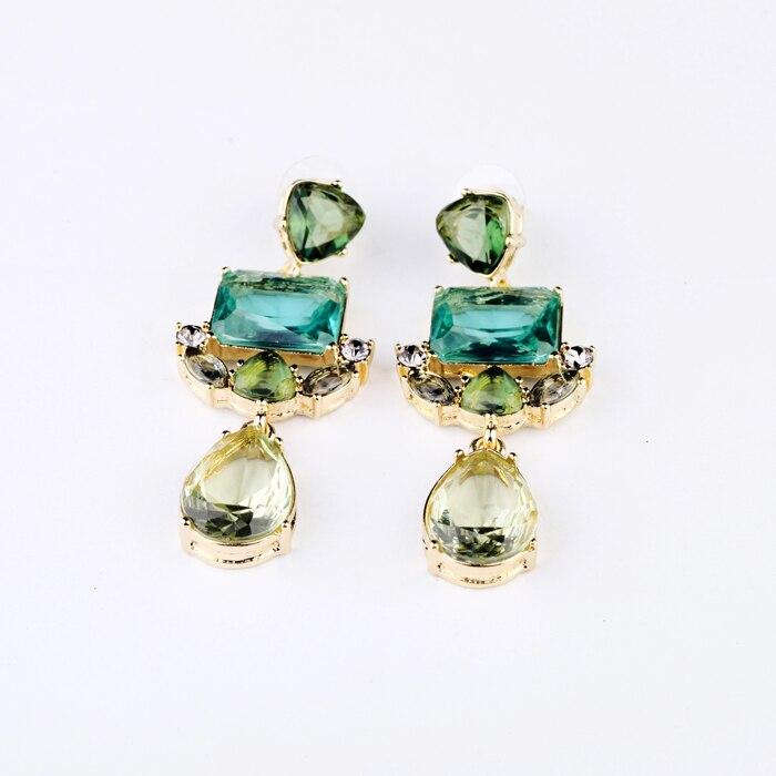 Модные аксессуары зеленый Кристалл изысканные серьги-гвоздики
