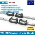 2 Pcs 20mm TRH20 Platz Linearführungsschiene 400mm 500mm 600mm 800mm + 4 Pcs TRH20B Slider Blöcke für CNC maschine