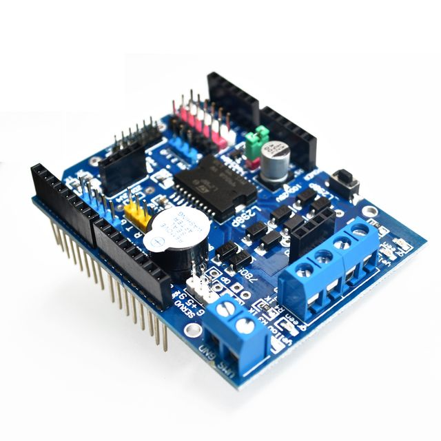 US $3 62 6% OFF|L298P PWM Speed Controller Dual High Power H bridge Driver  ,Bluetooth Interface, L298P Motor Shield Board for Arduino-in Integrated
