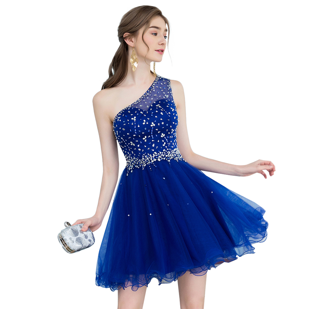 Prom Dresses 2019 Short Tight Blue