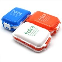 3-layer 8 Lattices Candy Case Medicine Box Mini Vitamin Pill Tablet Organizer Travel medicine Storage Folca