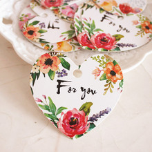 for you 95set heart shape blooming flower design paper labels packaging decoration tags