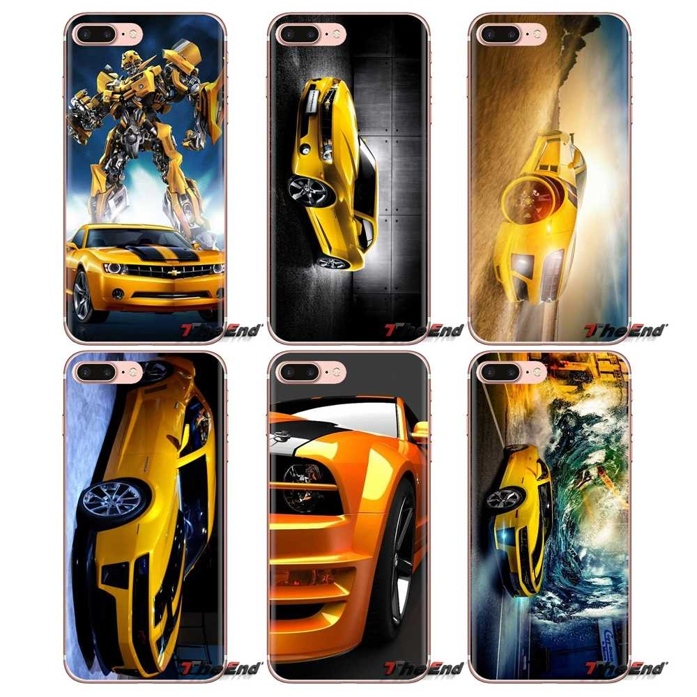 Silicone Phone Shell Case Bumblebee Convertible Sports car For iPod Touch Apple iPhone 4 4S 5 5S SE 5C 6 6S 7 8 X XR XS Plus MAX