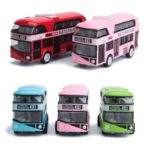 2018 1:43 Car Model Double-decker London Bus Alloy Diecast Vehicle Toys For Kids Boys Oct23-C(China)
