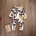 Recién nacido de Invierno Cálido Bebé Peleles Ropa de Bebé para Las Niñas de Algodón de Dibujos Animados Bebé Mameluco Infantil Roupa Siguiente Ropa de Bebé