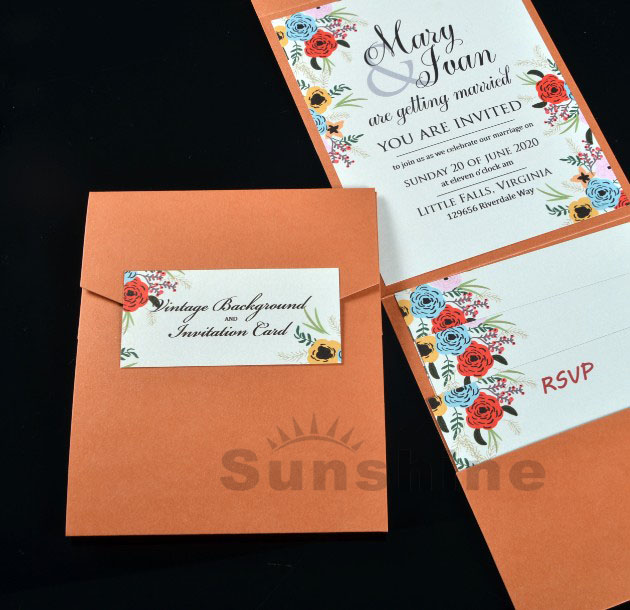 Personalizado Cartão De Convites De Casamento De Bolso Real Convites