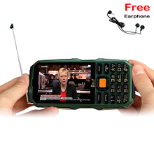 """DBEIF D2017 Antenne Analogique TV 3.5 """"écriture tactile écran 9800 mAh lampe de poche banque d'alimentation double carte sim FM mobile téléphone P291"""