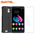 Tempered Glass + Leather Back Cover Flip Case For Oukitel K6000 Pro Mobile phone Free Shipping