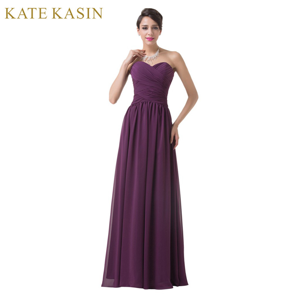 Real Picture Design Wedding Party Dress Floor Length Chiffon Long Bandage Prom Dress Cheap Purple Bridesmaid
