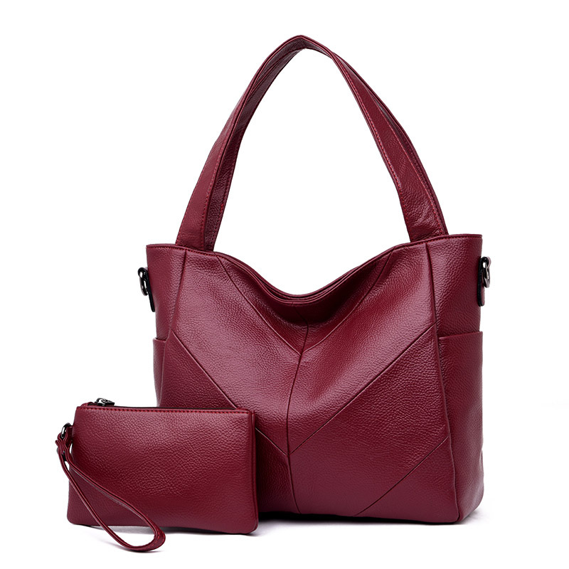 2018 New Arrival Crossbody Bags for Women Soft Leather Luxury Handbags Women Bags Designer Ladies Hand Bags Tote 2 Pcs Set elegant ladies hand bags luxury handbags women bags designer female tote bag good quality leather crossbody bags for women fn291