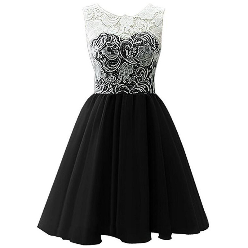 Girls Dress Summer 2017 Small Beauty New Female Black
