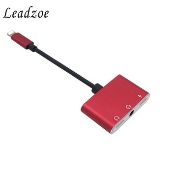 Dubbele Audio Adapter Voor iPhone 7 8 Plus X Muziek Opladen Splitter Dual jack Audio Converter voor bliksem of 3.5mm Hoofdtelefoon