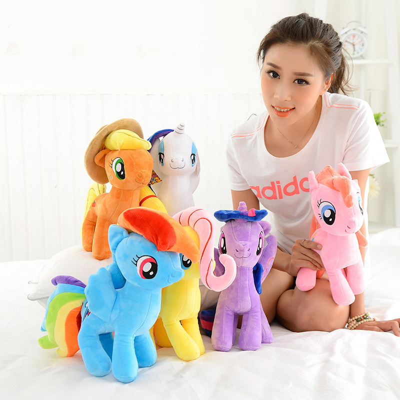 40cm Anime Soft unicorn Plush Toy Cartoon Unicornio Kawaii Ty Beanie Dolls Pony Toys for Children gift friendship is magic