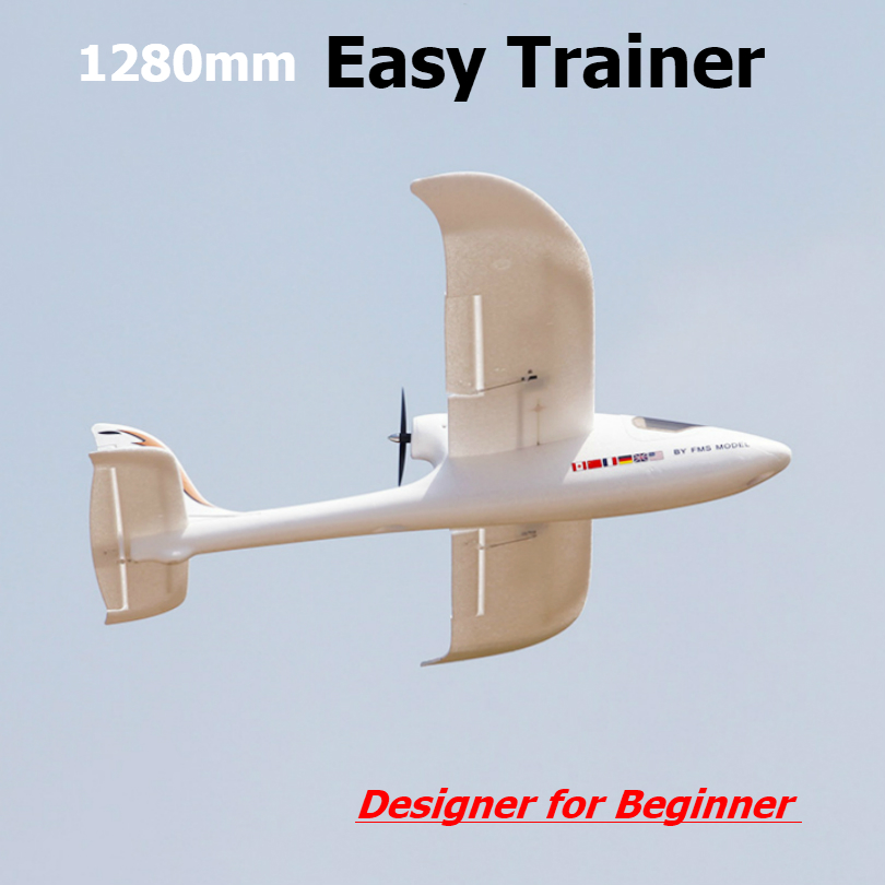 FMS 1280mm łatwa Trainer 1280 4CH 2 S PNP trwała EPO trener początkujących RC samolotu Hobby model samolotu statków powietrznych Avion w Samoloty RC od Zabawki i hobby na AliExpress - 11.11_Double 11Singles' Day 1