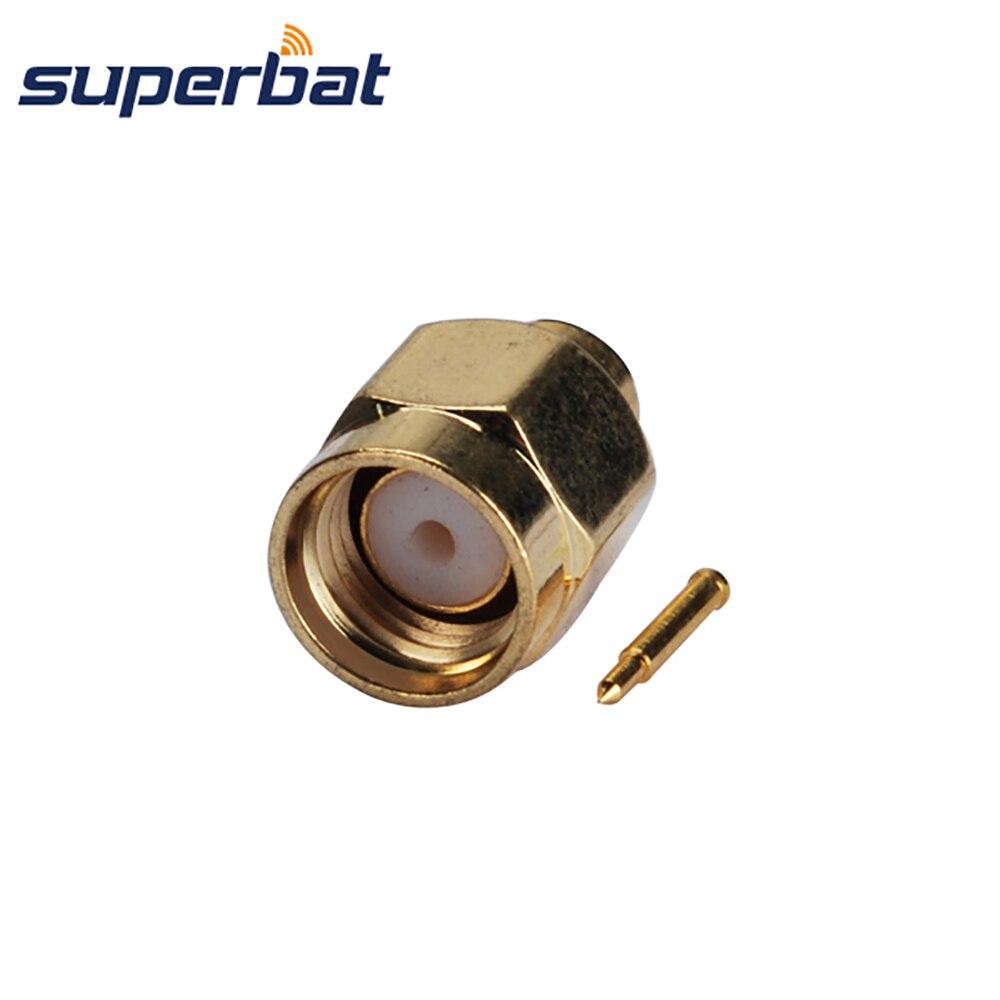 Superbat 5pcs Sma Plug Male Solder For Semi Rigid 141