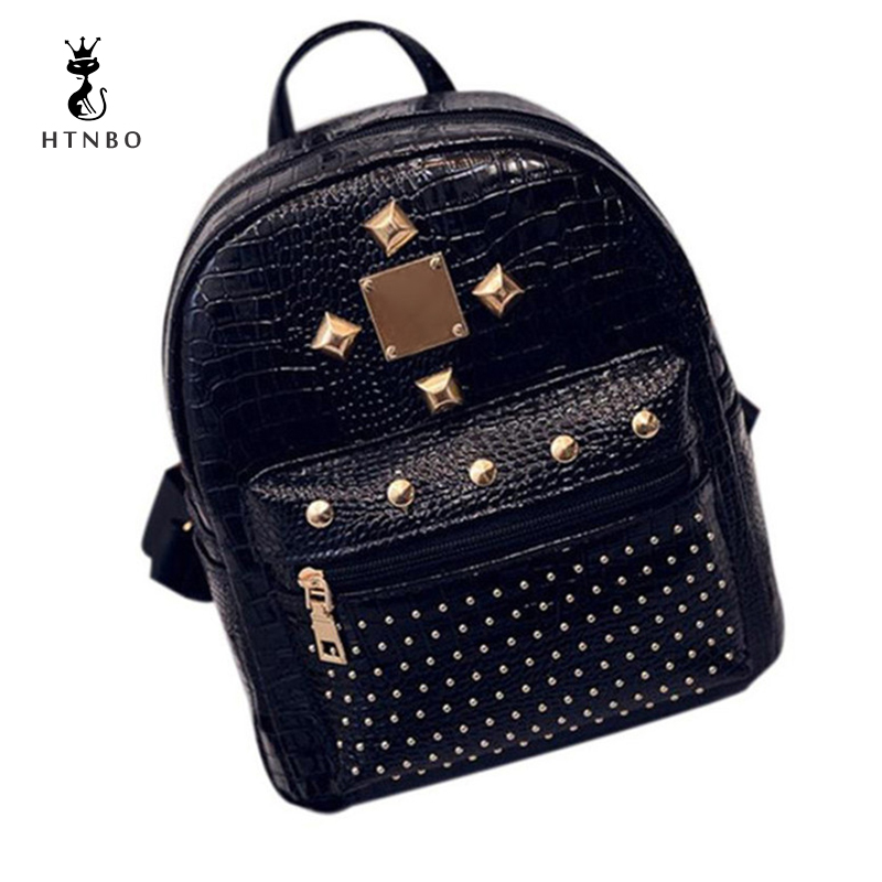 HTNBO Woman Backpack College Student School Bag Leather Ladies Velvet Luxury Small Travel Backpacks Book Bags Mochila Escolar girsl kid backpack ladies boy shoulder school student bag teenagers fashion shoulder travel college rucksack mochila escolar new