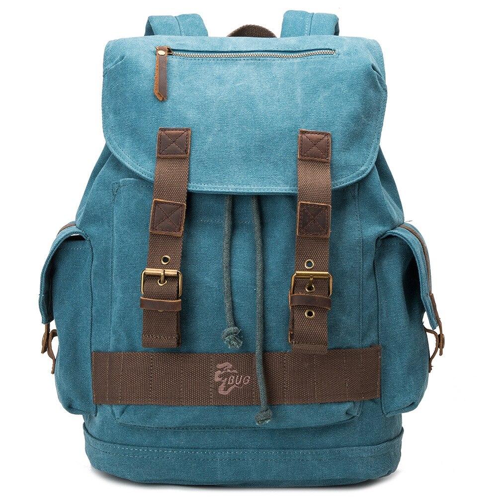 Amasie New fashion men s backpack vintage canvas backpack school bag men s travel bags GET0034