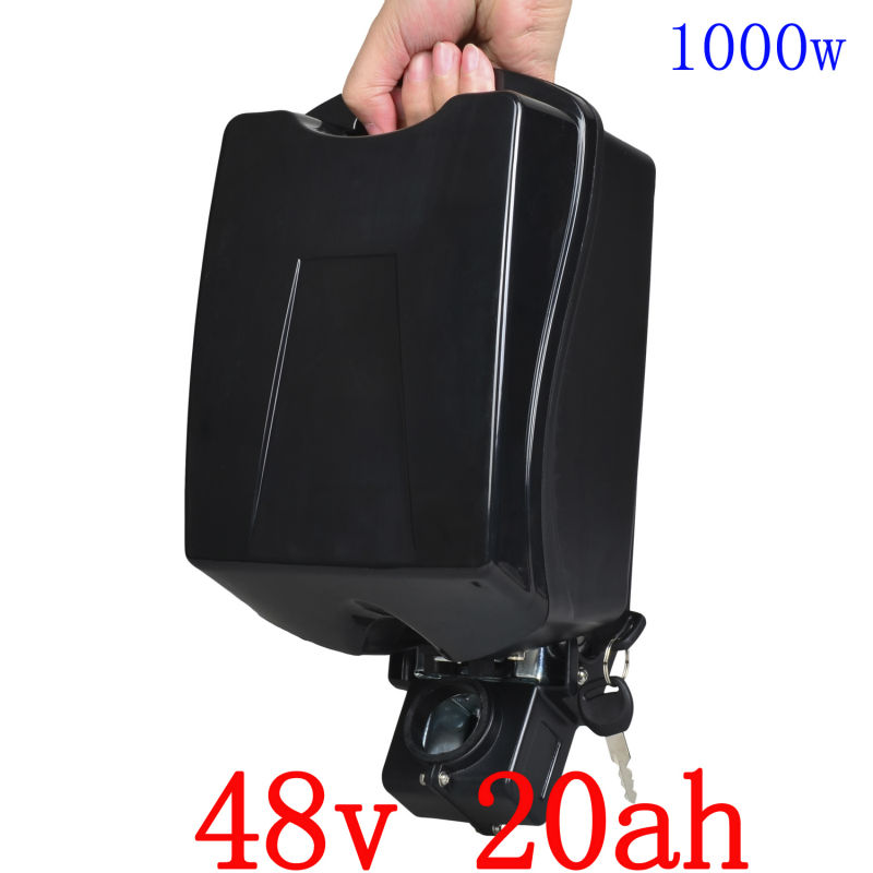 US EU no Tax High Power 48V 1000W electric bike battery 48V 20AH lithium ion battery with 30A BMS 54.6V 2A charger 1200w 48v scooter battery electric bike battery 48v 20ah lithium ion battery pack with pvc case 30a bms 54 6v 2a charger