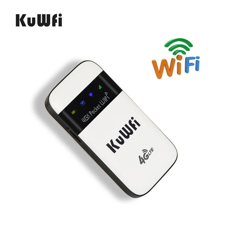 Image 3 - KuWFi 4G LTE WiFi Router Unlocked Pocket 3G/4G Mobile WiFi Hotspot 4G Router with Sim Card Slot for Travel-in 3G/4G Routers from Computer & Office