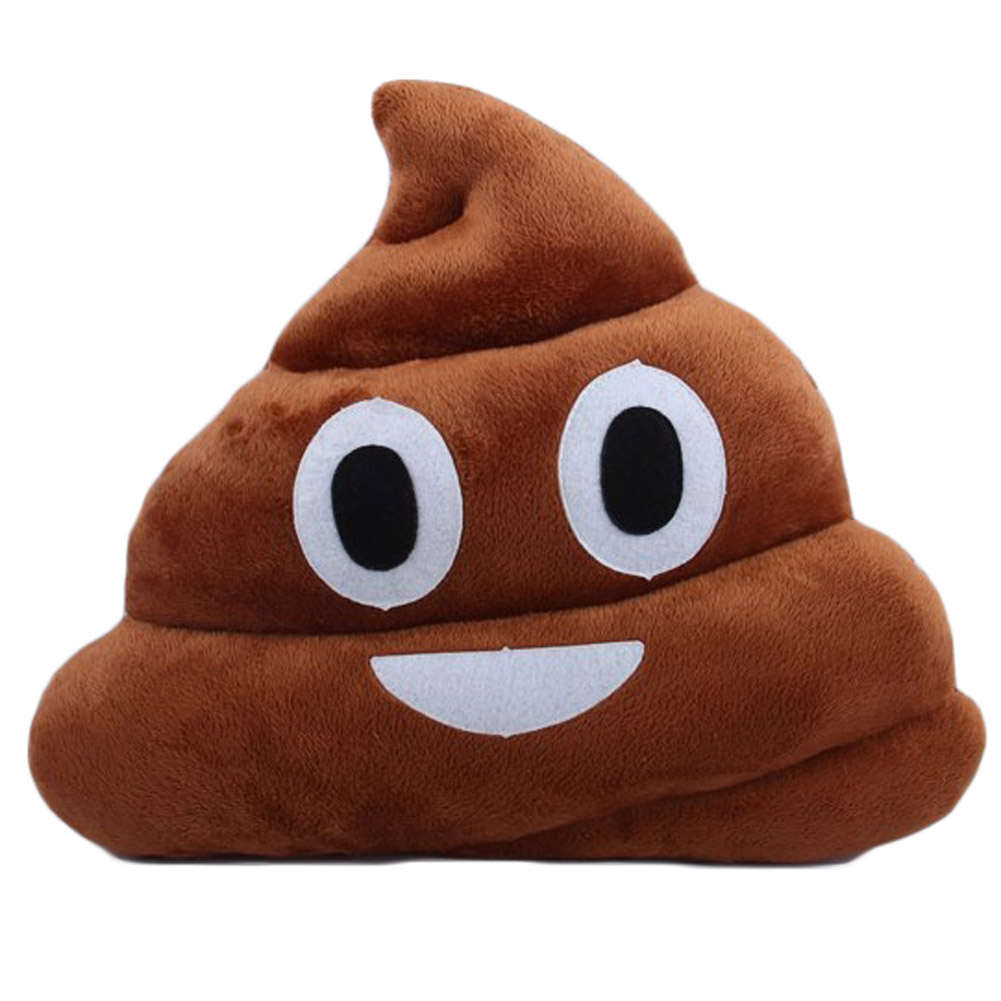25CM Practical Jokes Stool Plush Toys Emoj Pendant Pillow Creative Plush Little Devil Emulation Feces Toys Pillow Doll ornaments ...