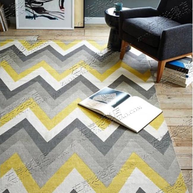 Acrylique rayé tapis alfombras moderne fait main tapis salon chambre mode créative table basse canapé tapete