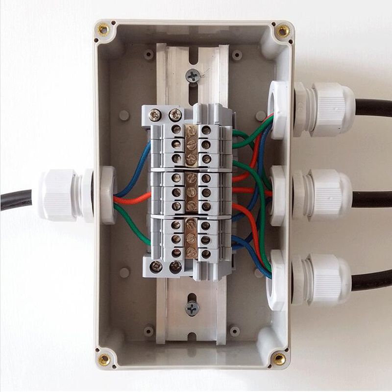 HOT SALE] Single Phase 2 IN 12 OUT Wire Terminal Box