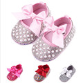 Rhinestone Crystal Princess Baby Mary Jane Shoes Girls First Walkers Bow Cute Newborn Toddler Soft Bottom Non-Slip Shoes Crib