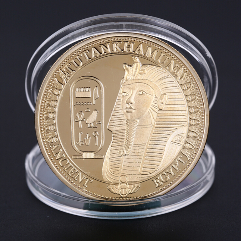 1Pcs Gold Plated Coins Ancient Egypt Sphinx Coins For Collection Gift Challenge Coin