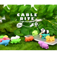 Universal Cable Bite Cartoon Stub Take a Bite Mobile Phone A