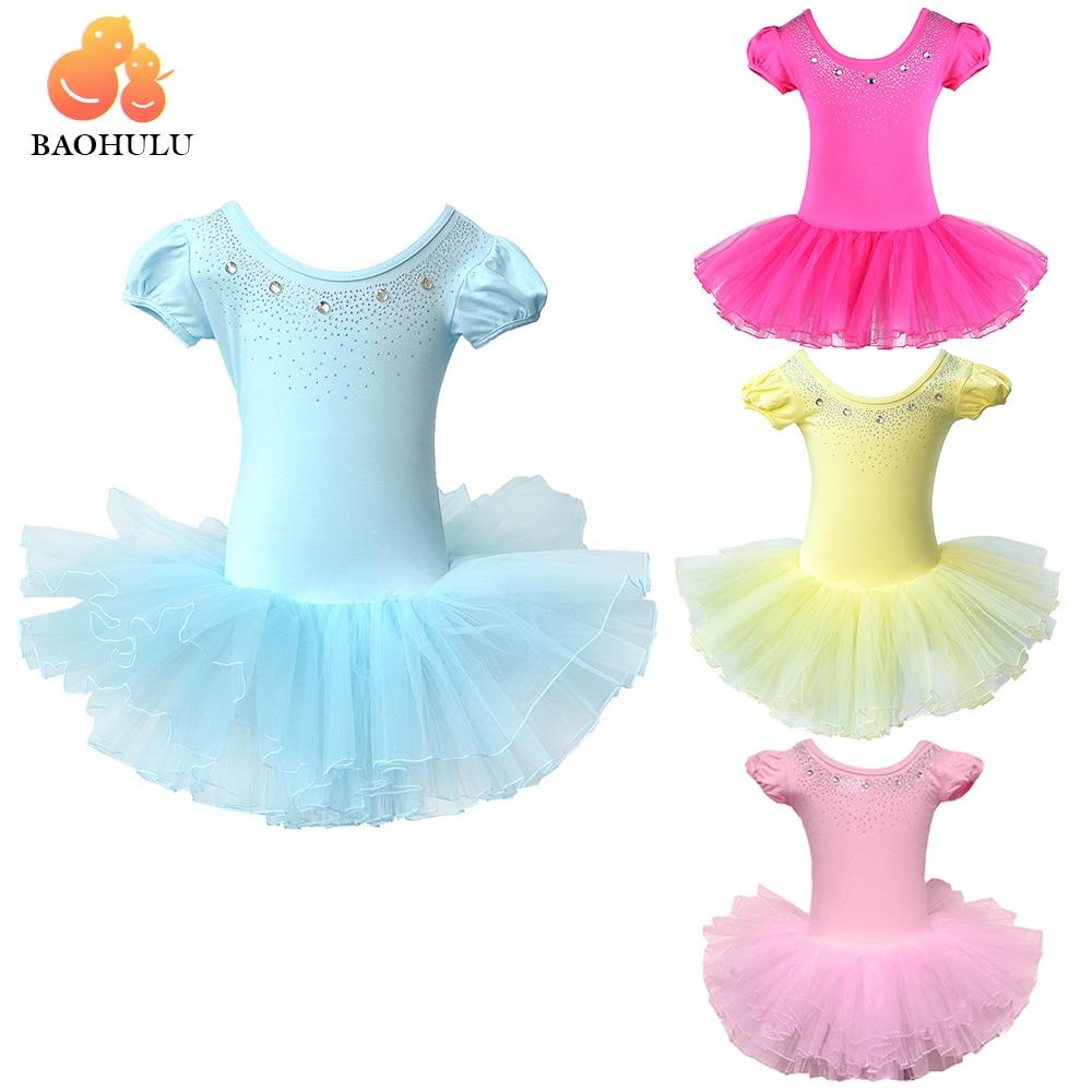 2018 BAOHULUCute Girls Ballet Dress for Children Girl Dance Clothing Kids Ballet Costumes for Girls Dance Leotard Girl Dancewear