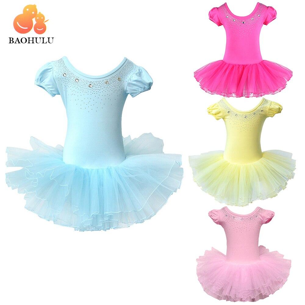 8d29312b8 BAOHULU lindo niñas vestido de Ballet para niños niña danza ropa de niños  trajes de Ballet para niñas baile leotardo chica desgaste de la danza