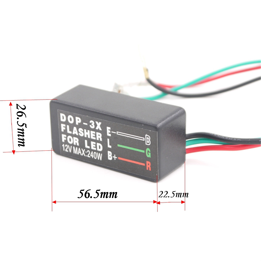 Eonstime 12V 240W 3 Pin Flasher Relay Motorcycle Car LED Turn Signal Light New Universal