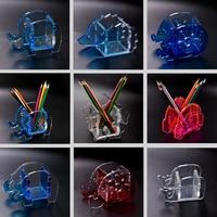 1 stuk Transparante DIY Silicon Animal Molding Pen holder Mould Sieraden Gereedschap epoxyhars mallen voor sieraden