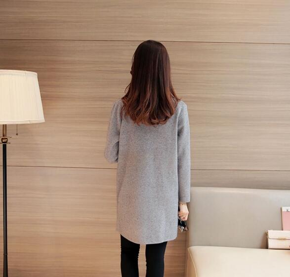 2019 women cardigans sweater female long section coat korean loose big yards cardigan women sweater in Cardigans from Women 39 s Clothing